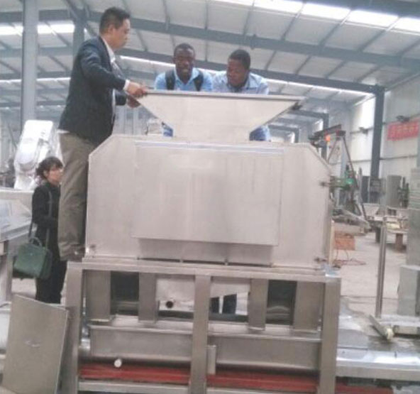 india customers and peeling and extraction machine