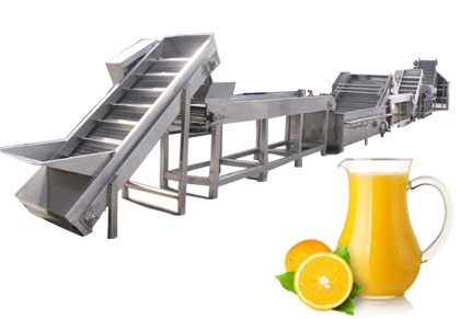 orange juice processing line